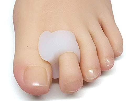 ZenToes Pack de 4 separadores de dedos y esparcidores para juanetes, dedos superpuestos y la deriva pan (blanco)