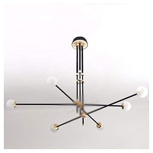 PANGU-ZC Lampe Suspension- Luminaires Suspendus-Lustres Postmodern Restau Lustre Lampadaire Restaurant Chambres à Coucher Haricots Magiques (têtes Multiples) - 8436