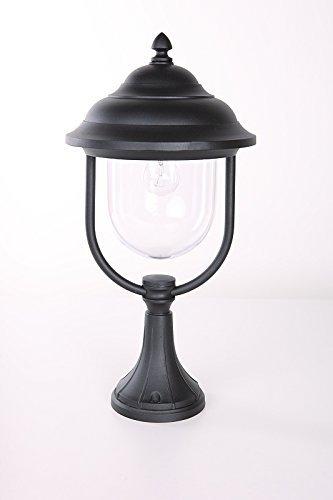 Sockelleuchte schwarz matt , klassische Form | LHG Außenleuchte E27 230V
