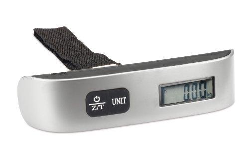 REFLECTS Digitale Kofferwaage Gepäckwaage mit Temperaturanzeige, 50 kg Kapazität, Silber, Schwarz