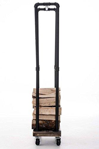 Clp carrello portalegna in metallo per camino forks for Carrello portalegna da arredamento