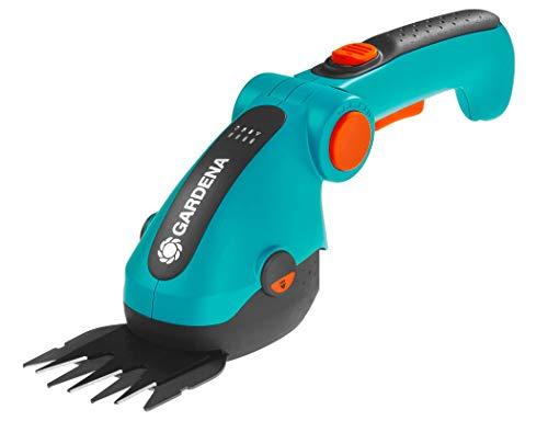 Gardena 09856-20 Akku-Grasschere ComfortCut 3.6 V, türkis, schwarz, Orange