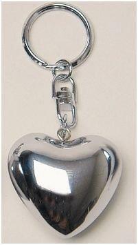 Klangherz Schlüsselanhänger Herz silber 4x4 cm Anhänger