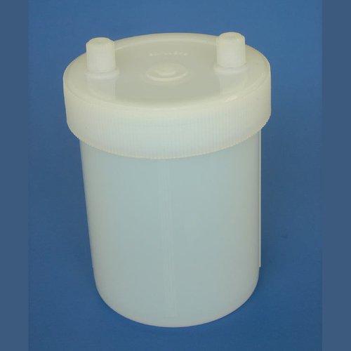 Thomafluid Transfer-Reaktionsbehälter aus PFA für Flüssigkeiten, Inhalt: 240 ml, Anzahl Fittings: 2, Außen-Ø: 70 mm, natur (Flüssigkeit 240)