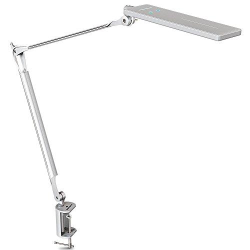 BYB E430 brazo Metal clip lámpara de escritorio LED (plata)