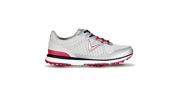 d6201f9590280f Callaway Ladies Solaire San Clemente Golf Shoes Ladies Grey/Pink 5.5  Regular Fit: Amazon.co.uk: Sports & Outdoors