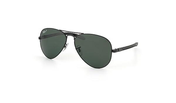 e8ecd05819 Ray-Ban RB8307 C58 Aviator TM Carbon Fibre Sunglasses, Black: Amazon.co.uk:  Shoes & Bags