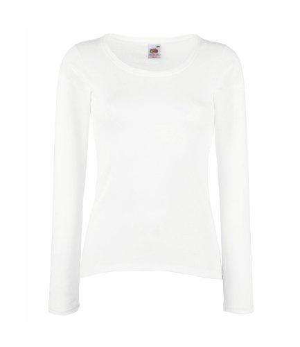Fruit of the Loom - T-shirt - Femme Blanc - Blanc