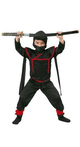 Ninja Samurai Krieger - Kostüm für Kinder Gr. 110 - 146, Größe:140/146