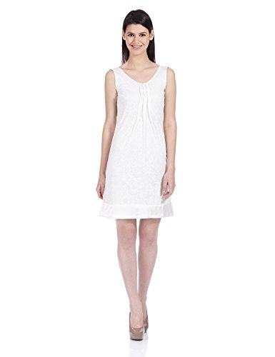NOI Women's A-Line Silk Dress (AW12 NOI STELLA_Off White_Large)  available at amazon for Rs.449
