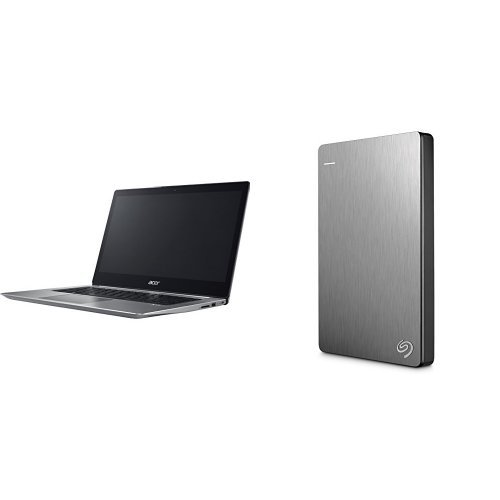Acer Swift 3 Ultrabook 14-Inch Notebook (Intel Core i5-8250U, 8 GB RAM, 256 GB SSD, Intel UHD Graphics 620, Windows 10 Home) + 2TB Seagate Backup Plus Slim External Hard Drive