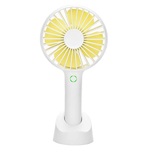 eujiancai Mini Handheld Portable Fan, USB Hand held Personal Fans Rechargeable Battery Powered Hand held Fan with Base 2500mAh Battery 4 Modes for Home Office Bedroom and Outdoor travel(White) -