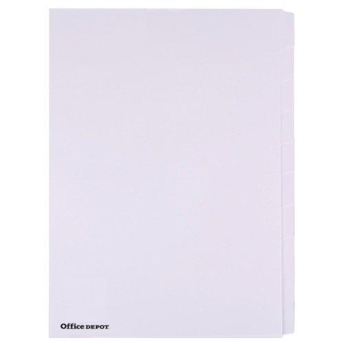 office-depot-unpunched-lavagna-bianca-a4-10-divisori-blank-set