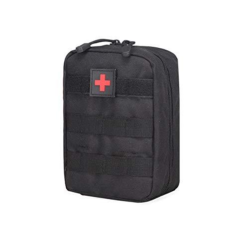 JUNbao-LINyiming-01 Taktische Erste-Hilfe-Tasche Molle Medizinische Tasche Duable Utility EDC Tool Zubehör Taille Pack Airsoft Jagd Tasche Schwarz -