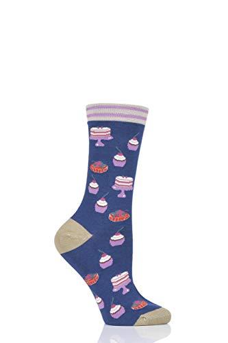 Thought Damen Cupcake Bambus und Bio-Baumwolle Socken Packung mit 1 Meerblau 37-40 Bio-cupcake