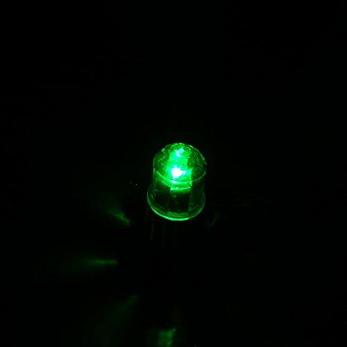 SYN Auto Pneumatico Ruota luci, Pezzi Bici Auto Moto Ruota Luce Tappi valvola del Pneumatico Neon Flash LED Luce della Lampada di Sicurezza Spia con 6pcs batterie a Bottone AG10(Verde)