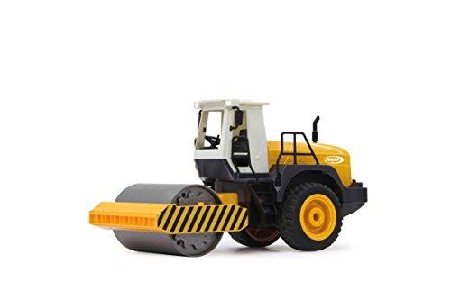 RC Auto kaufen Spielzeug Bild 2: Jamara 410011 - Straßenwalze 1:20 m. Rüttelfunktion 2,4G - Vibrationsmotor in der Walze, realistischer Motorsound, Hupe, Rückfahrwarnsound Blinker, Licht vorne / hinten, profilierte Gummireifen*