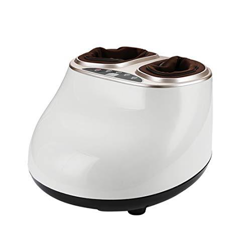 HIOD Fuß Massagegerät Elektrisches Shiatsu Kneten Heizung Luftkompressions Massage Geeignet für Geschenke für Familien und Freunde,White