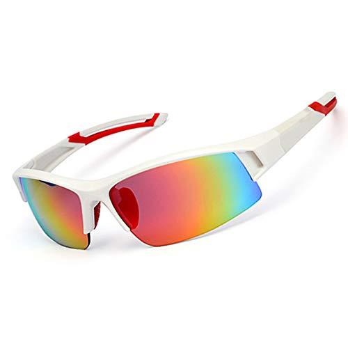Beydodo Unisex Schutzbrille Outdoor Weiß Rot Sportbrille Outdoor Sonnenbrille Schießbrille Verstellbar