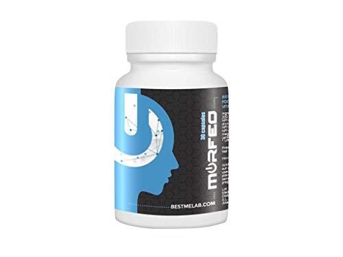 BESTME MORFEO : Pastillas naturales para dormir mejor, relajante natural, recuperador muscular (compuesto por MELATONINA NATURAL, GABA, 5HTP, BACOPA, ZINC, MAGNESIO Y VITAMINA B6) 30 Cápsulas