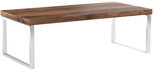 FineBuy Massiver Couchtisch Java 120 x 60 x 40 cm Sheesham Massiv Holz Tisch | Design Wohnzimmertisch aus Massivholz | Beistelltisch Rechteckig Braun