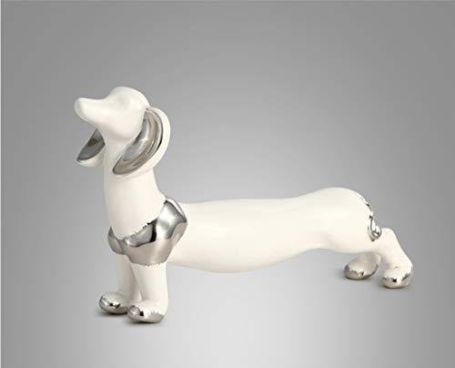 Keramik Dekoartikel Skulpturen Nordischen Home CArtoon Hund Tier Ornamente Student Kinder Schlafzimmerzimmer Dekorationen Persönlichkeit Niedlich Einfache Mode (Artoon C)
