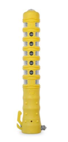 Preisvergleich Produktbild Powerflare Safety Stick Akku Warnleuchte in gelb mit Taschenlampe,  Gurtmesser und Sicherheitshammer