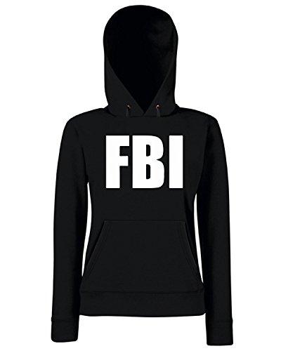 T-Shirtshock - Sweats a capuche Femme TM0546 fbi Noir