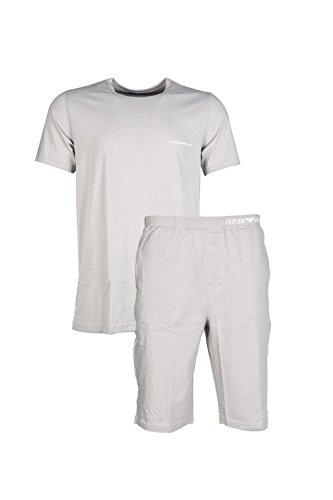 Emporio Armani Herren Pyjama 1113764P581 L grey
