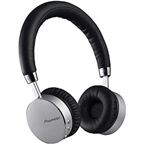 Pioneer SE-MJ561BT-S - Auriculares de diadema cerrados Bluetooth (con micrófono), plateado y negro