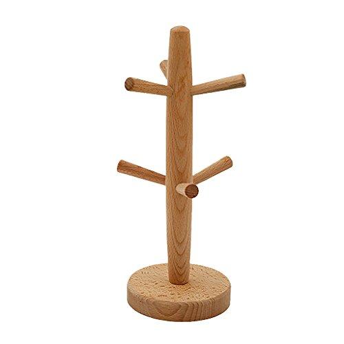 MagiDeal Kaffeetasse Becher Halter Baum Ständer Küche Aufbewahrung Rack, aus Holz