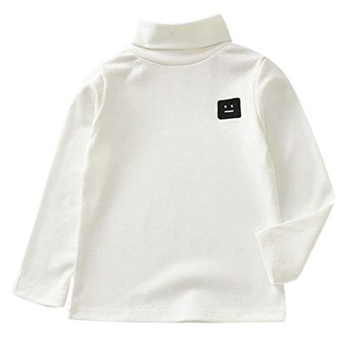 Kind Kostüm Starbucks - MRULIC Langärmliges Sweatshirt des Kind Baby Stehkragen Jungen-Oberteile T-Stück Pullover Sweatshirt(Weiß,Höhe:125-130CM)