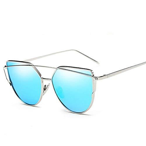 ZHOUYF Sonnenbrille Fahrerbrille Vintage Rose Gold Verspiegelte Sonnenbrille Frauen Metall Reflektierende Flugzeug Objektiv Sonnenbrille Frauen Brille, O