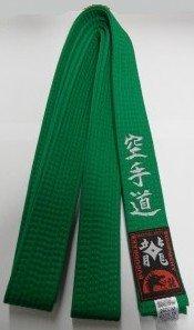 Grüngurt bestickt mit Karate-Do (Bestickung in silber) Karategürtel grün bestickter Karategurt