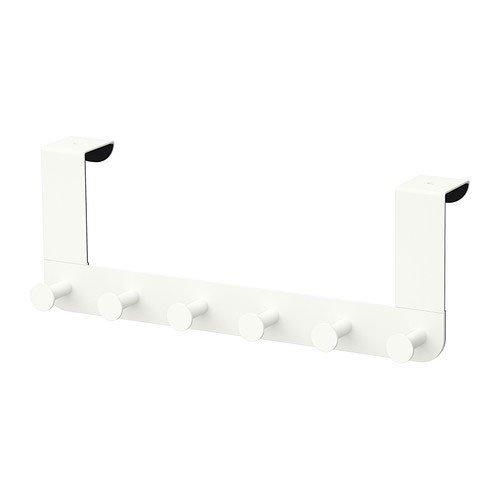 Ikea Enudden Perchero para Puerta, Acero, Blanco,
