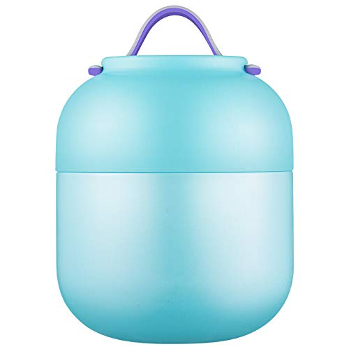 ZUEN Isolierungs-Brotdose, Brotdose, Edelstahl-Isolierungs-Fass, gebrannter Topf, Student Office Worker,Blue (Planetbox-lunch-box)
