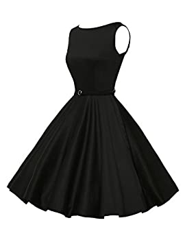 Classy Vintage 1950's Audrey Hepburn Style Rockabilly Swing Picnic Party Prom Dress Medium Color 13 3