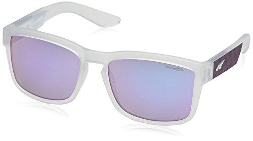 Arnette 0an4220 23484v, occhiali da sole uomo, bianco (matte traslucent clear/mirrorviolet), 57