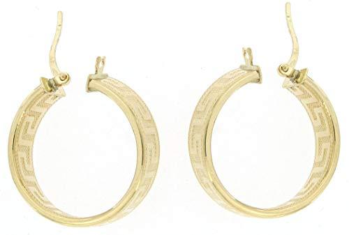 Creolen Ohrring Gold 585 echt Gelbgold elegant edel Mäander Damen 3g