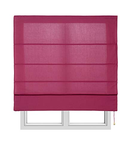 Estores Basic- Plegable con Varillas,  Vino, 75x175 cm