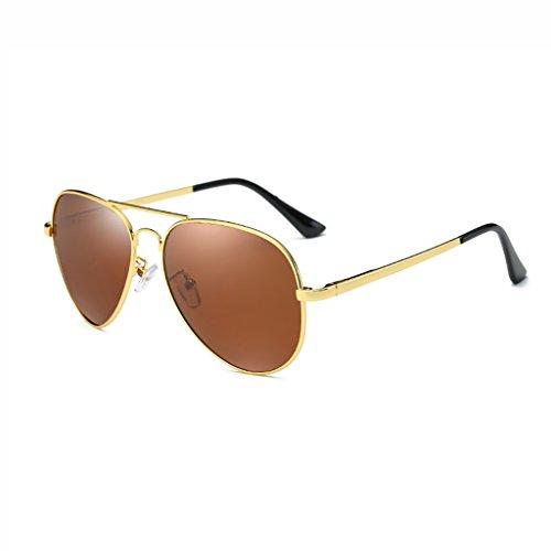 Ppy778 Aviator Sonnenbrille für den Mann mit UV400-Schutzrahmen aus Metall (Color : D)