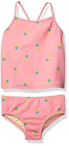 Amazon Essentials Tankini-Set, für Mädchen, zweiteilig, Pink Pineapple, US 3T (EU 98-104)