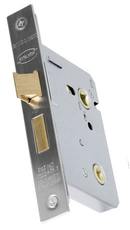 Gridlock 5107 Bathroom lock backset 57mm Polished brass