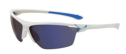 Cébé Sonnenbrille Cinetik Shiny/White/Blue/Grey/Flash/Clear/Yellow, L