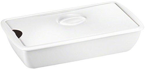 Miele Backofen- und Herdzubehör / Servierform Porzellan, zum Servieren von heißen Speisen aus dem Dampfgarer / weiß