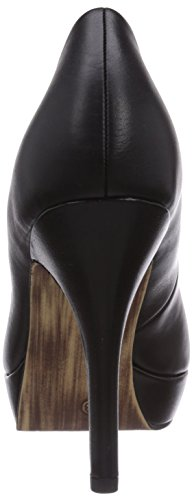Schwarz Leather Tamaris black Damen 22419 003 Pumps 1tqnU8H