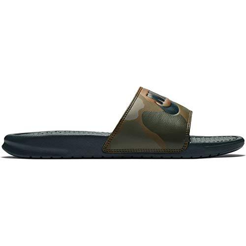 Nike benassi jdi print, scarpe da spiaggia e piscina uomo, midnight spruce 300, 44 eu