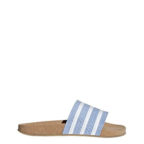 adidas Damen Adilette Cork W Dusch- & Badeschuhe Blau (Azucen/Ftwbla/Gum4 000) 38 EU -