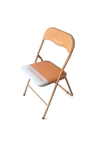 galileo casa sedie sedia pieghevole arancione, arancio
