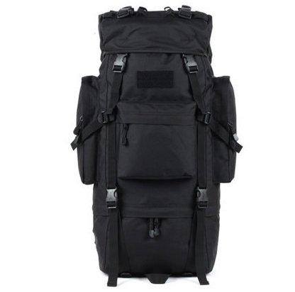Outdoor Rucksack große Kapazität camouflage Bergsteigen Taschen Rucksack, schwarz, 100L mit Wasserdichte Haube (A) 100 L ohne wasserdichte Haube